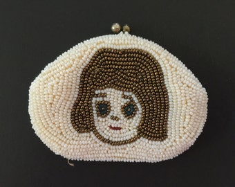 Vintage Coin Purse Beaded Change Bag