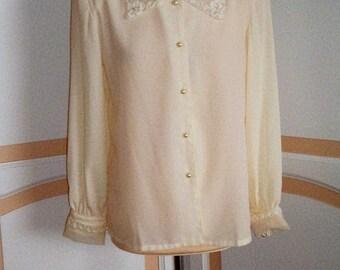 Lillian Collection Cream Blouse size uk 12