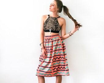 The Wavy Midi Skirt