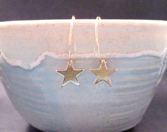 STAR Earrings, Gold Hoop Earrings, FREE Shipping U.S.