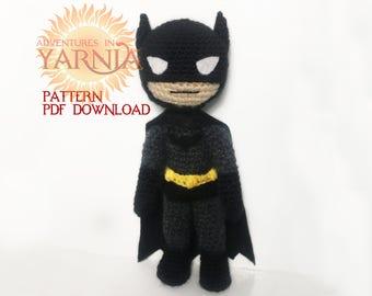 Batman Amigurumi Crochet Pattern PDF Instant Download