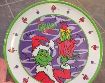 The Grinch that stole Christmas Plastic children's plate