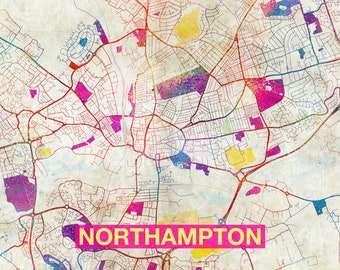 Northampton art map Etsy