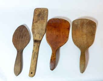 Butter Paddles, Primitives, Collection of wooden butter paddles, primitive kitchen, wood butter paddles, instant collection, farmhouse decor