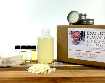 Exotic DIY Lip Balm with Tins Making Kit - Learn how to make home made chapsticks