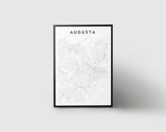 Augusta Map Print
