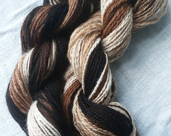 Hand Spun Alpaca Gradient Stripes 0318