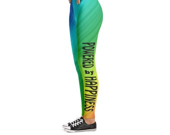 Leggings - Powered by Happiness (rainbow)