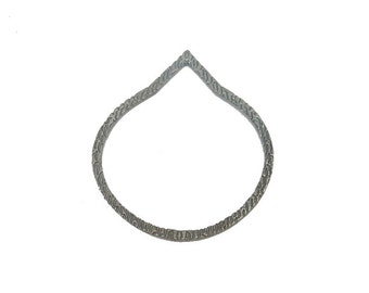 10% off Teardrop Pendant -- Oxidized Sterling Silver Hammered Pendant (S98B7-02)