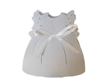 Girl Baptism dress favor box, communion,git box