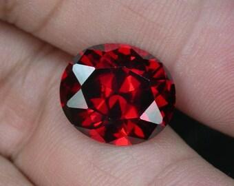 15.4 ctw. red spessatite garnet loose gemstone.