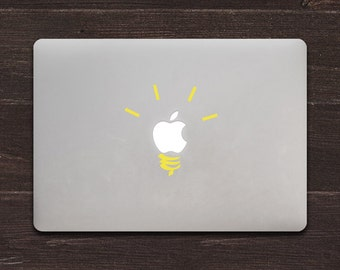 Light Bulb Vinyl MacBook Decal BAS-0156