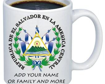 El salvador escudo taza coffee mug cup