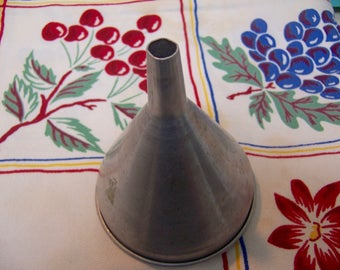 vintage aluminum funnel