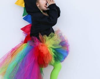Kids dinosaur hoodie / rainbow kids / dinosaur costume / rainbow sweater / baby dino hoodie / dinosaur birthday party / kids dinosaur gift