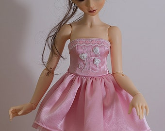 """MSD BJD Clothes - """"White roses"""" dress (Fairyland Minifee A-line) for 1/4 Girl"""