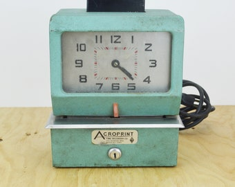 1970's Acroprint Time Clock