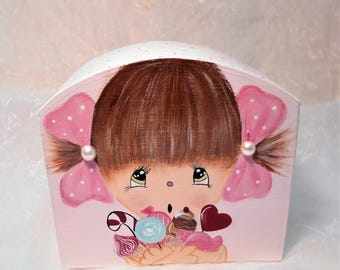 """Piggy bank for girls """"Sophie and sweets"""""""