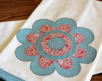 Kitchen Towel, Applique Towel, Hostess Gift, Housewarming Gift