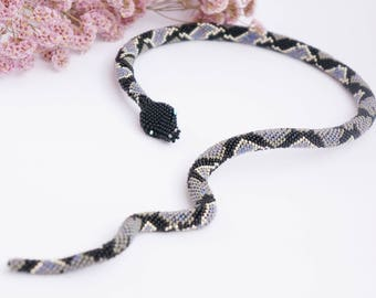Necklace Snake (bracelet) crochet beads