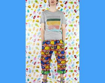 Reversible Trousers - Eyes / Spot Print