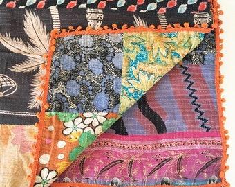 Vintage Indian Kantha Quilt - no. 7