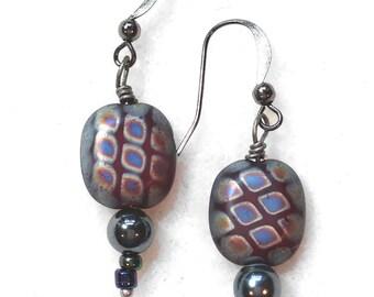 Multi-colored pillow earrings