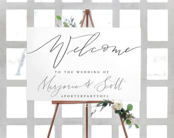 calligraphy wedding welcome sign   canvas sign   wedding sign   modern calligraphy   wedding decor   calligraphy sign    printable sign