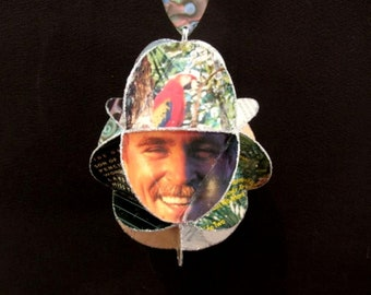 Jimmy Buffett Album Cover Ornament Made Of Repurposed Record Jackets