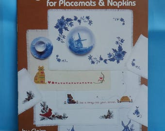 Cross Stitch Design Book for Placemats and Napkins (S166)