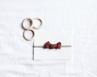 Knot bow headband