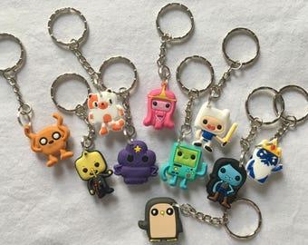 Adventure Time Keyrings/Keychains | cartoon cute emo kids goth fun jake finn minecraft japan kitsch 90s