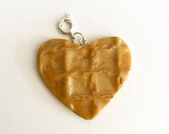 The Waffle-Heart Cookie Charm