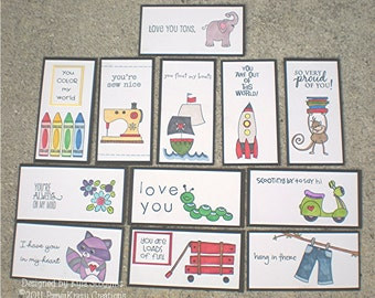 Lunch Box Love Notes 7b, Lunch Notes for Kids, Lunch Box Notes
