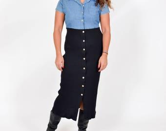 VTG 90's Denim Button down Dress Size Medium