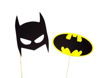 Super Hero Photo Booth Props - Set of 2 Batman Props