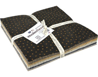 Maywood Studio Woolies Flannel Neutrals - 10 Inch Squares 42 Pieces Pre-Cut Cotton Fabric