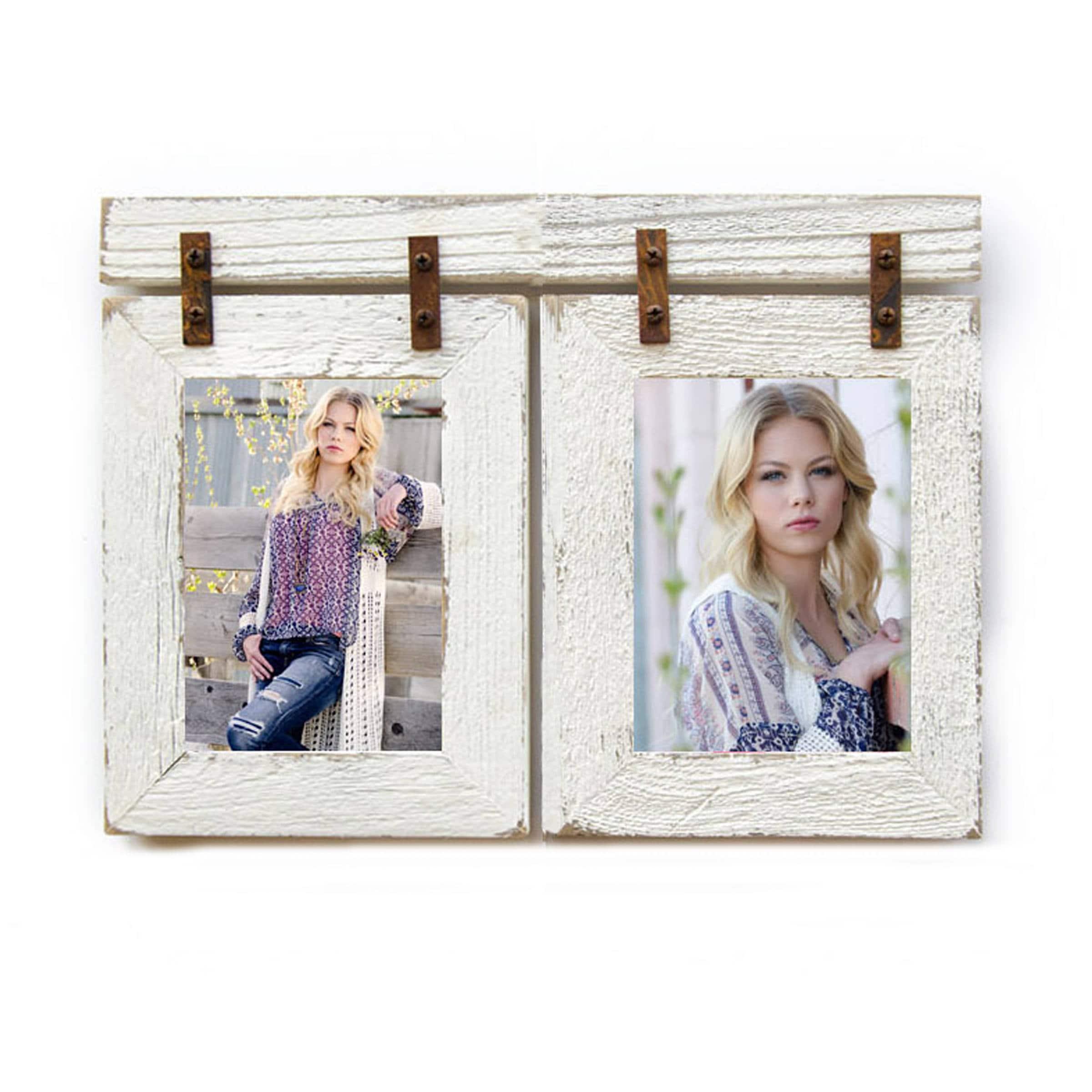 8x10 barnwood collage white frame 2 8x10 multi opening zoom jeuxipadfo Images