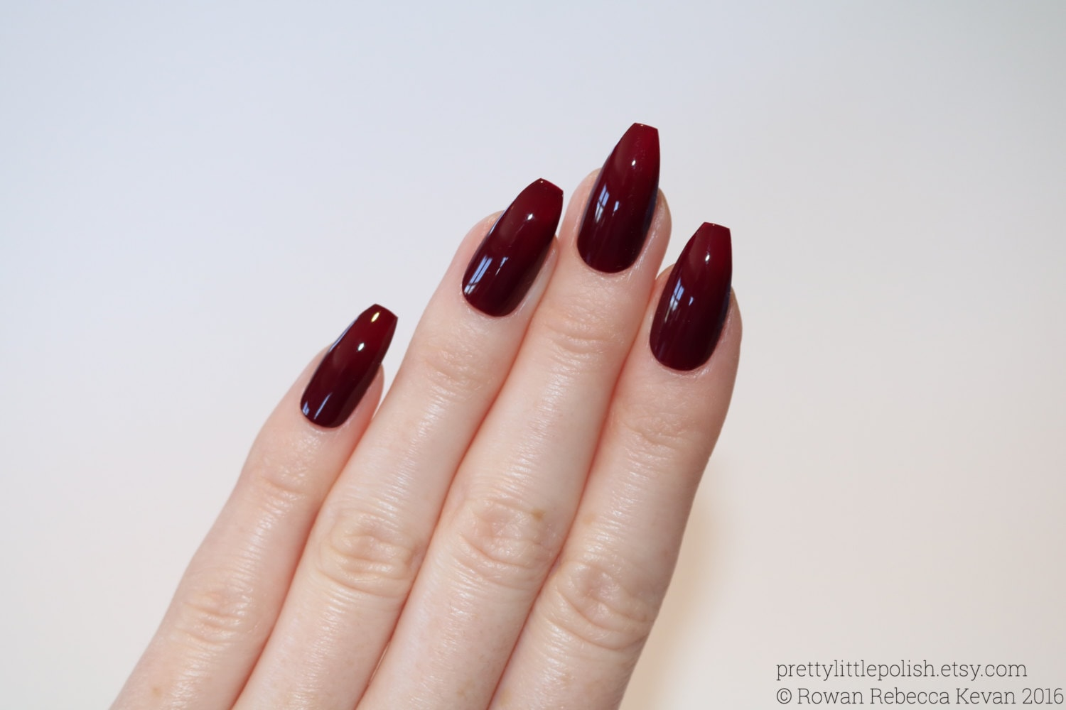 Burgundy coffin nails Nail designs Nail art Nails Stiletto