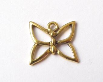 Golden butterfly charm 16x15mm - 2 pieces