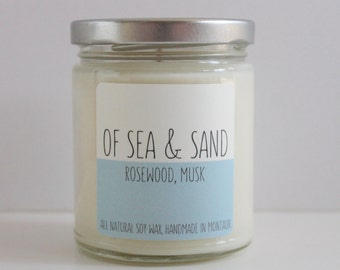 Rosewood, Musk, 9 oz Soy Candle, Of Sea & Sand