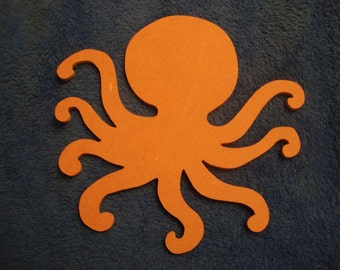 Octopus Mdf Wood Mosaic Base Substrate Unpainted Craft Shape