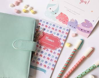 Agenda Ring Planner A6 with kit refill sheets BIBRI Cupcake format Personal