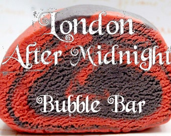 Classics of Horror Cinema DOUBLE BATCH London After Midnight Bubble Bar (Red Wine & Oakmoss Scent) Bath Bubble Steampunk Lush Gift
