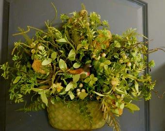 Spring Wreath , Woodland Wreath , Rustic Wreath , Spring Door Wreath , Summer Wreath , Wreath For The Door , Outdoor Wreath , Wreath