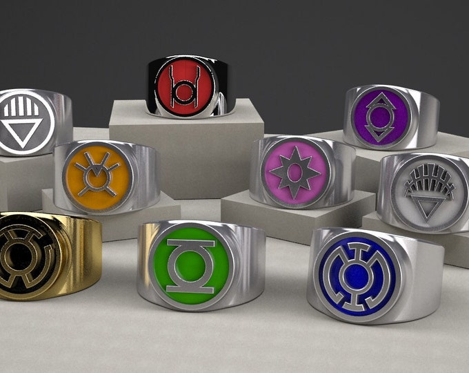 Custom GL Comic inspired rings