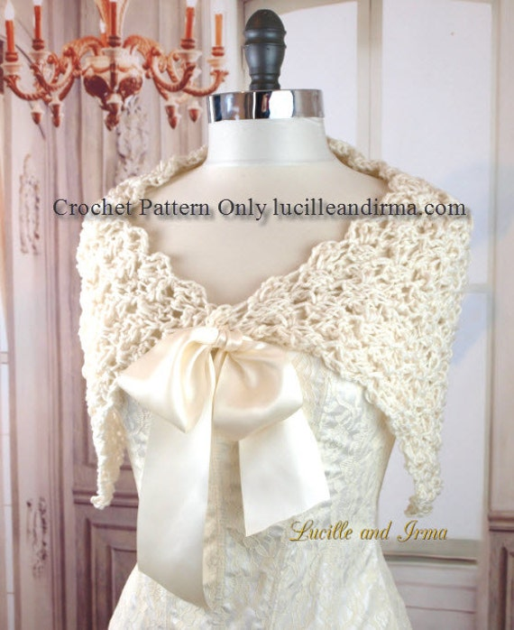 Crochet Wedding Gifts Patterns: Easy Crochet Pattern Summer Bridal Shawl Wedding Gift