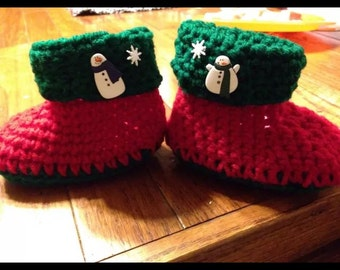 Crochet childrens slippers ~