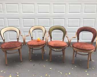 Sale! 4 BENTWOOD ARM CHAIRS Thonet Style by Shelby Williams of Tennessee at Modern Logic