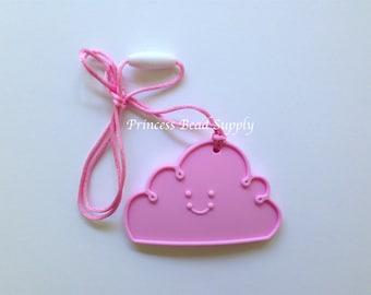 Light Pink Cloud Silicone Teether, Cloud Silicone Teether, 100% Food Grade Silicone, Sensory Teether,  Silicone Toy,  Teether Toy
